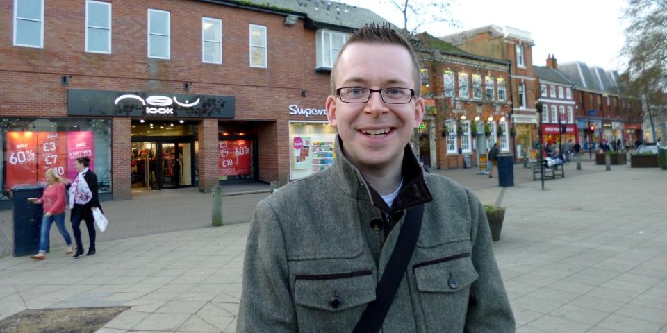 Graham Soult visiting Market Harborough