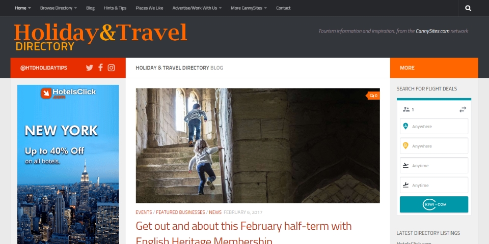 Holiday & Travel Directory homepage
