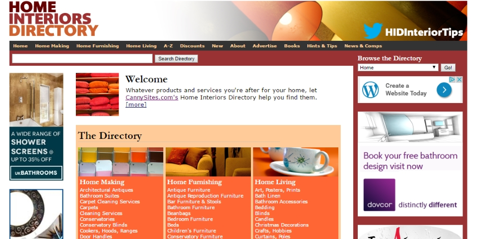 Home Interiors Directory homepage