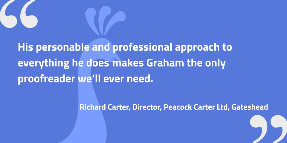 Testimonial from Richard Carter of Peacock Carter