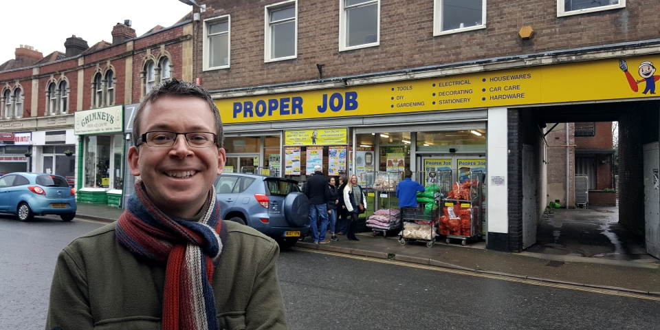 Graham Soult outside the former Woolworths in Clevedon, Somerset