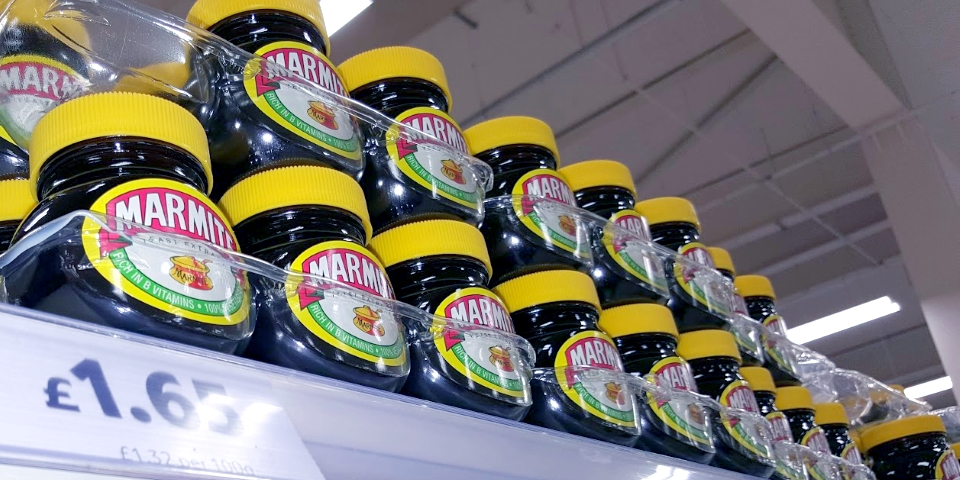 Marmite in Gateshead Tesco. Photograph by Graham Soult
