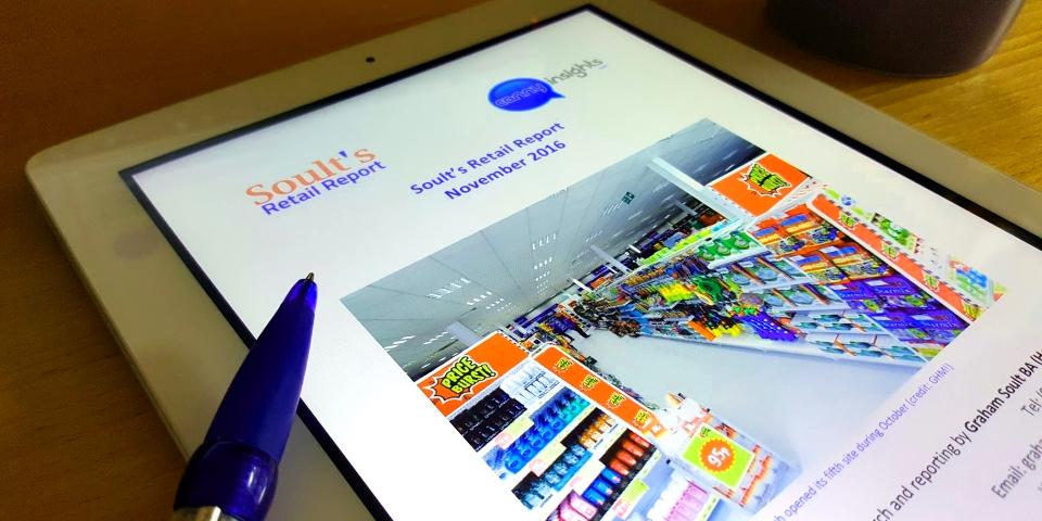 Soult's Retail Report. Photograph by Graham Soult