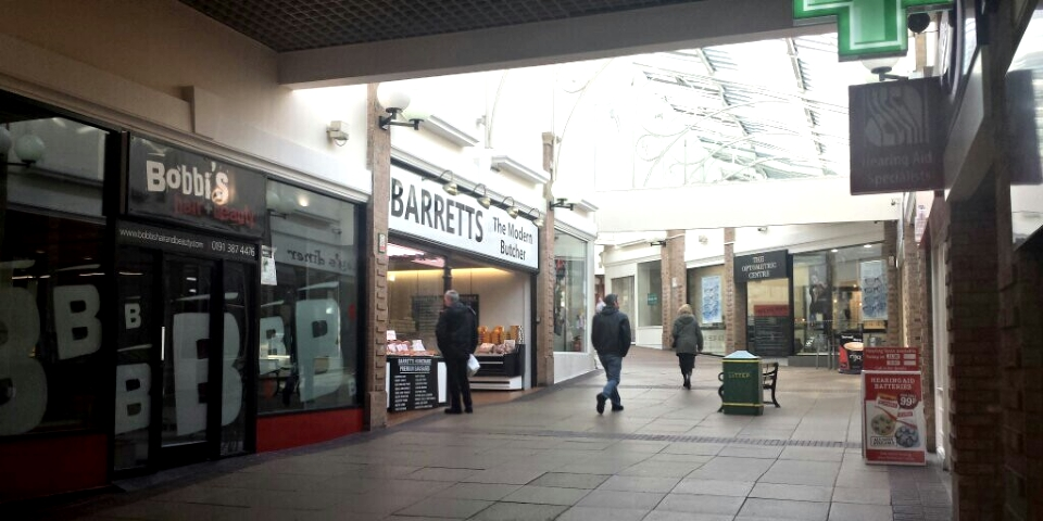 Shopping centre in Chester-le-Street. Photograph by Graham Soult