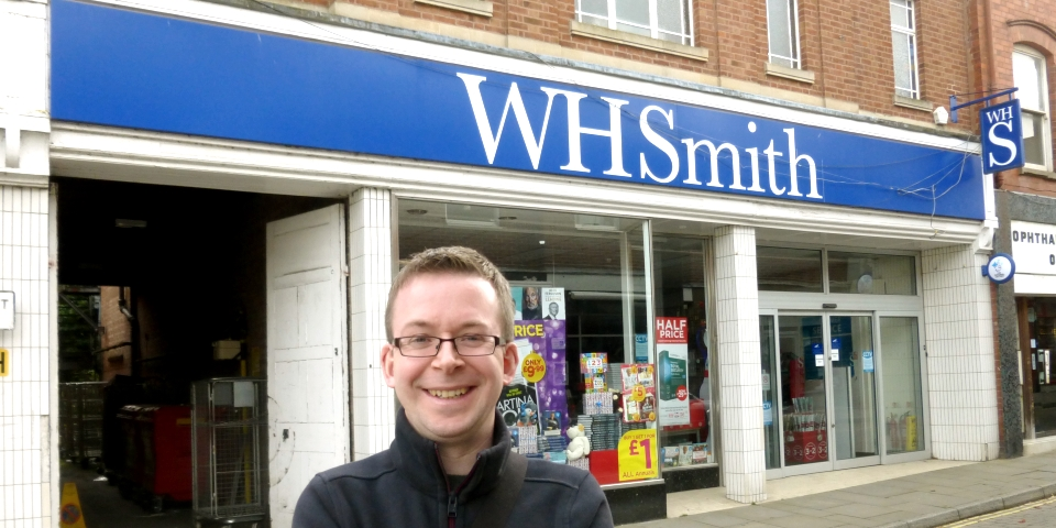 CannyInsights.com's Graham Soult outside the former Woolworths in Leominster, Herefordshire