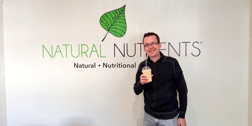Graham Soult at Natural Nutrients' offices