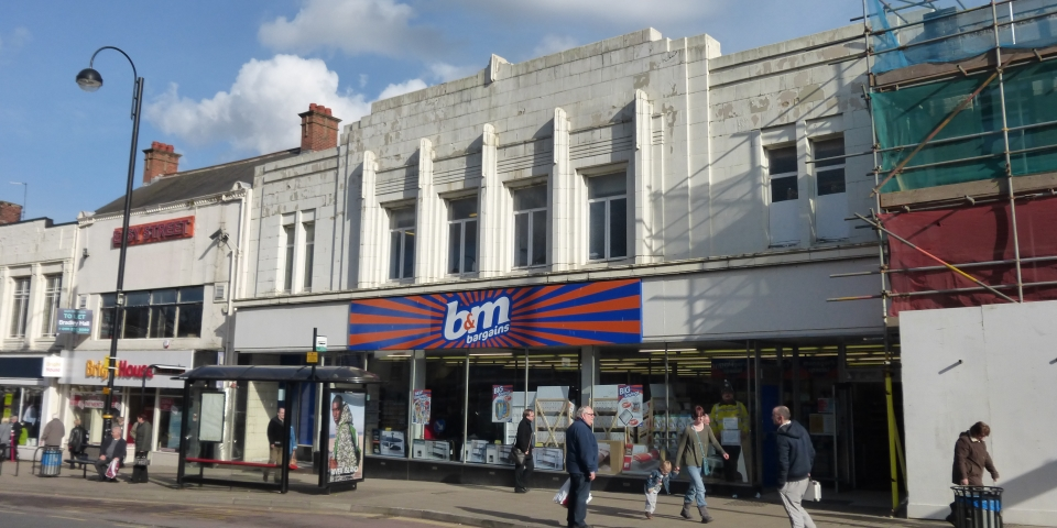 B&M (ex-Woolworths) in Chester-le-Street town centre in 2014. Photograph by Graham Soult