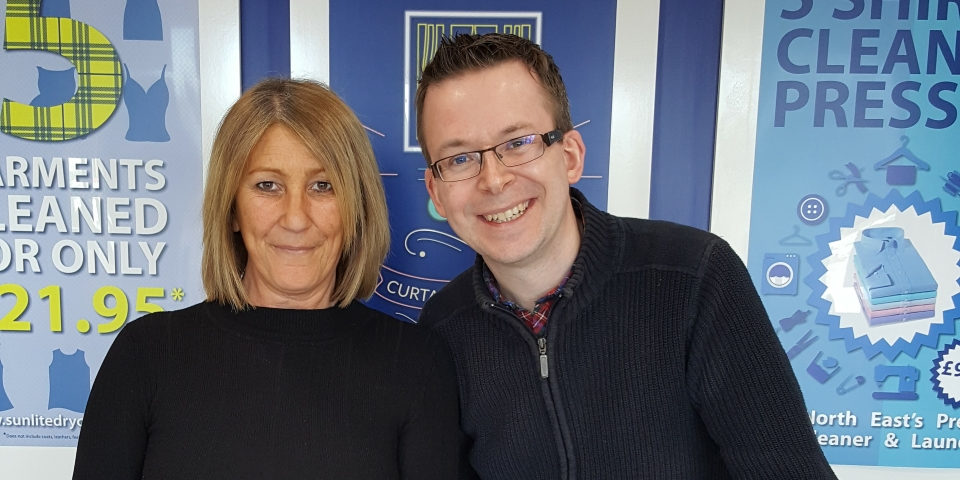 Graham Soult with Sunlite operations manager Ann Connell