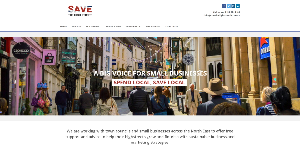 Save The High Street website