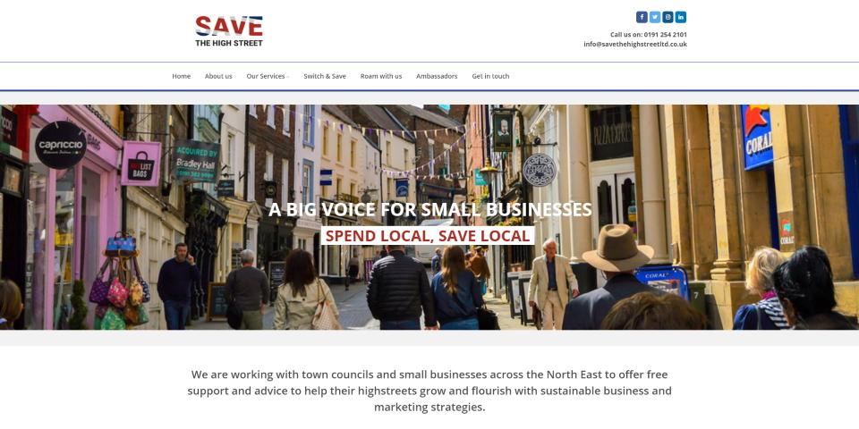 Save The High Street website