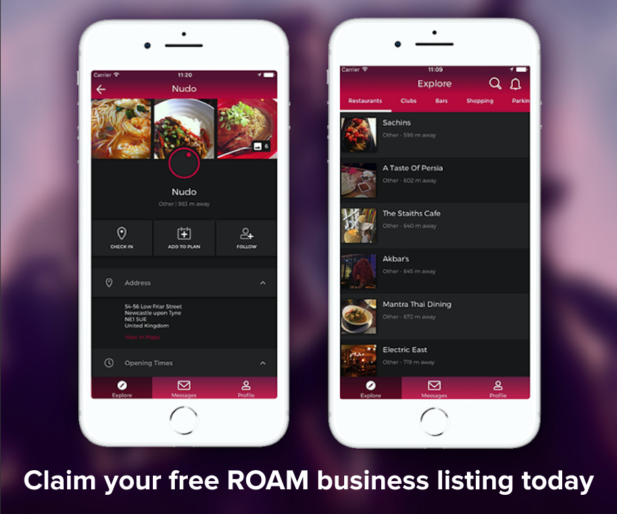 Claim your free business listing on ROAM today