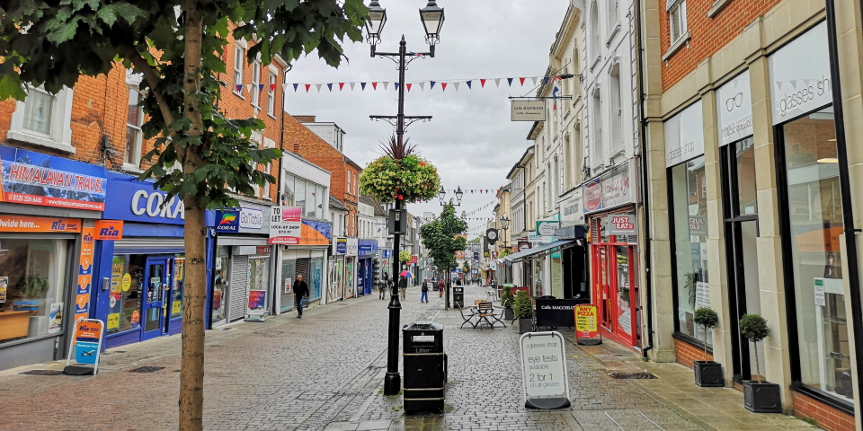Aldershot - which we visited in August 2019 - is another of the 14 High Streets Task Force pilot locations. Photograph by Graham Soult