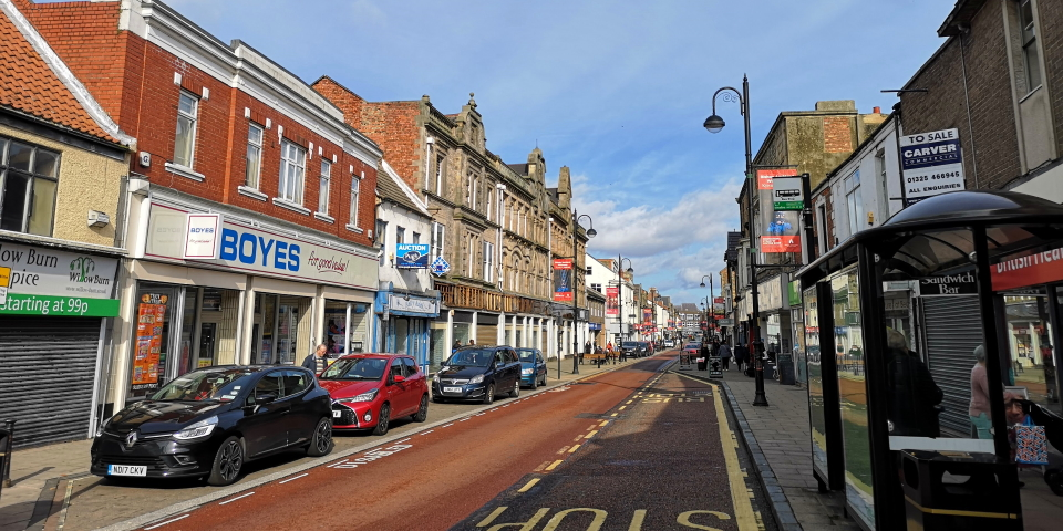Newgate Street in Bishop Auckland. Photograph by Graham Soult