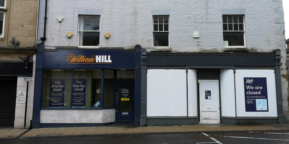 The HSHAZ schemes could see empty properties like these in Hexham being renovated and repurposed. Photograph by Graham Soult
