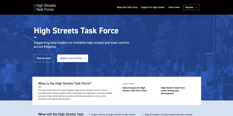 High Streets Task Force website