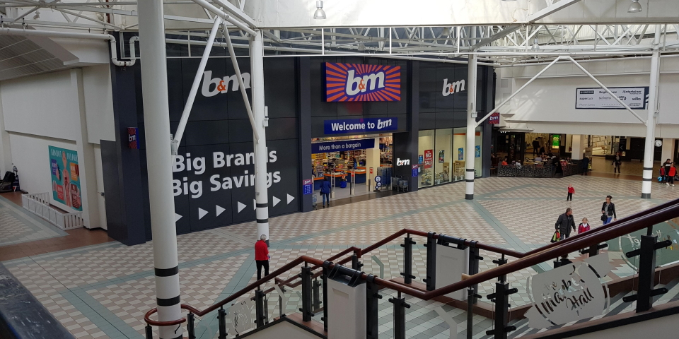 Middleton Grange shopping centre is the focal point of Hartlepool town centre. Photograph by Graham Soult